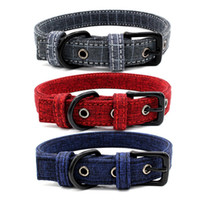 Wholesale canvas dog collars resale online - Printing Pattern Dogs Cats Collar Bohemia Style Pet Collars Double Deck Canvas Pet Dog Accessories New Arrival br L1