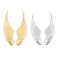 ingrosso adesivi auto di aquile-sticker eagle 1 paio di adesivi per auto in metallo effetto 3D universale Big Eagle Angel Wings Sticker Moto Car Styling Accessori per la decorazione del corpo