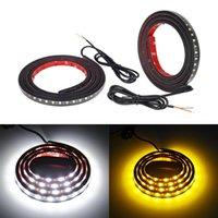Wholesale amber side marker lights resale online - 2 LED Car Truck Light Strip DRL Side Marker Signal Indicator Lamps White Amber SMD