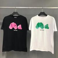 neue typen hemden großhandel-Heißer Verkauf 19SS neue PALM ANGELS tragen T-Shirt bequeme lose Art T-Shirt rückseitiges Buchstabe-Drucken Männer und Frau T-Shirt