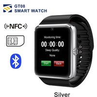 Wholesale iphone wristwatch online – GT08 Bluetooth Smart Wristwatch with SIM Card Slot and NFC Health Watchs for Android Samsung IOS Apple iphone Smartphone Bracelet Smartwatch