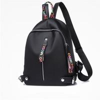 diseñadores de mochilas al por mayor-Mochila de diseño Para mujeres niñas Mochilas de nylon de gran capacidad con Negro Blanco Rosa 3 colores de alta calidad Volver paquete Envío de la gota