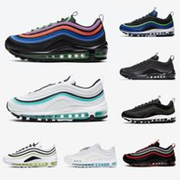 lila schuhe männer groihandel-Nike Air max 97 shoes Regency purple Laser Fuchsia Women Men Running Shoes Sliver Bullet South Beach Gym red White Outdoor Sports outdoor Sneakers 36-45