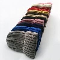 Wholesale free knitting ladies cap for sale - Group buy Winter Women Knitted Hat Warm Pom Pom big Fur ball Wool Hat Ladies Skull Beanie Solid Crochet Ski Outdoor Skull Caps LJJA3101