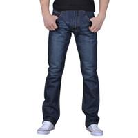 винтажная одежда из хип-хопа оптовых-Men Jeans Skinny Jeans Men Pure Color Denim Cotton Vintage Wash Hip Hop Work Trousers Pants Modis Clothes Vaqueros Hombre