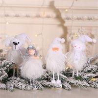 estilo de muñeca rosa al por mayor-31 estilos Muñeca pequeña Año nuevo Iron Angel Doll Cloth Angel Colgante Adornos colgantes de Navidad para la fiesta de Navidad Decoración del hogar