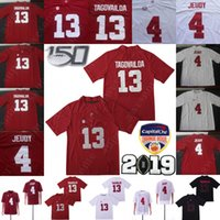Wholesale red jersey 13 for sale - Group buy 150th Anniversary Patch Alabama Crimson Tide Tua Tagovailoa Jersey Jerry Jeudy Najee Harris Football Jerseys Red White Black