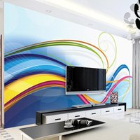 Discount line art wall painting Custom Photo Wallpaper For Walls 3D Modern Creative Line Art Living Room Sofa TV Background Wall Painting Mural Papel De Parede
