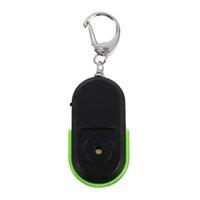 ıslık anahtarlık bulucu toptan satış-Buyincoins Taşınabilir Boyutu Eski Insanlar Anti-Kayıp Alarm Key Finder Kablosuz Düdük Ses LED Işık Bulucu Bulucu Anahtarlık # 281660
