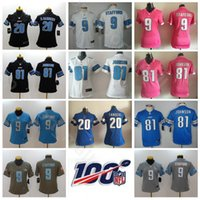 Wholesale johnson black jerseys for sale - Group buy Women Lion Youth Jersey Detroit Matthew Stafford Barry Sanders Johnson Foobtall Kids Lady Black Blue White With th Patch