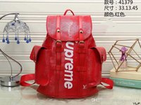 rucksackhandtaschen freies verschiffen großhandel-Neue marke SUP rucksack designer rucksack handtasche hohe qualität zweifarbige nähende rucksack schultaschen outdoor-tasche kostenloser versand