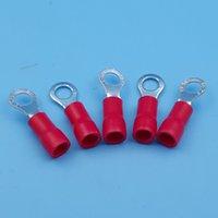 gleichstromdraht großhandel-1000 Stücke Roter Ring Isolierte Drahtverbinder Elektrische Crimpanschluss RV1.25-4