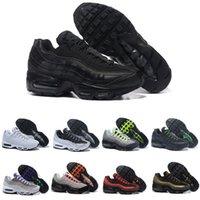 zapatillas de colores al por mayor-Nike Air Max 95 4.Bon Neon Men'Running Shoes For Women Sneakers Sports 97 Designer Trainer Black White Colors Ventas calientes