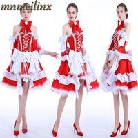 hut miku cosplay kostenlos groihandel-Hübsches Kleid Hatsune Miku Prinzessin Ballkleid-Kleid-Fantasie Weihnachten Cosplay Halloween Maß freies Verschiffen