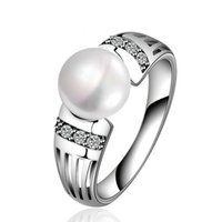 barocke ringe großhandel-Vintage Perle Ring Barock Art Silber Überzogene Ringe Luxuriöse Berühmte Marke Ring Hochzeit Schmuck Ringe Engagement Für Frauen Geschenke