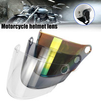 kask koruyucuları toptan satış-Windproof Motosiklet Kaskı Kalkanı Visor Su geçirmez Bisiklet Bisiklet Kaskı Visor Kalkanı Lens yukarı kaldırın Mercek Evrensel Maskesi