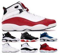 kırmızı konfeti toptan satış-2019 6 6 s Altı Yüzükler Basketbol Ayakkabıları Sneakers Jumpman Concord Bred Beyaz Buz Gym Kırmızı Konfeti Uzay Reçel Mens Adam Klasik Eğitmenler Ayakkabı Bred