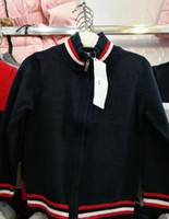 Wholesale kids sweater coats resale online - 2019 Fashion Children s Coat Sweater girls boys Knitted sweaters kids Crocodile Embroidery jacket Cardigan hoodie jacket outwear jumpers