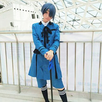 Wholesale ciel s costumes resale online - Ciel Phantomhive cosplay costumes uniform Japanese anime Black Butler clothing Halloween Masquerade Mardi Gras Carnival costumes full set