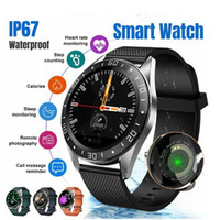 Wholesale water color meter resale online - Smart Watch GT105 Waterproof IP68 Heart Rate Monitor Fitness Water Sleep Monitor Color Screen Sport Smartwatch Men Women