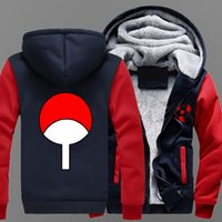 Wholesale naruto sasuke jacket for sale - winter Hoodies NARUTO Sasuke Uchiha Syaringan Hokage Ninjia Thicken Men women Warm autumn clothes sweatshirts Zipper jacket fleece hoodie