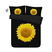 Wholesale bedding sets sunflowers for sale - Group buy 150x200CM D sunflower Print Duvet Cover Set Bedding with pillowcase Microfiber Quilt Cover Zipper Closure NO Comforter