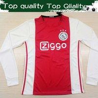 camisas personalizadas de futebol manga longa venda por atacado-2020 Ajax Long Sleeve futebol Jersey # 4 de Ligt # 21 DE JONG 19/20 Ajax completo manga Futebol camisa # 10 TADIC Personalizar Fardas