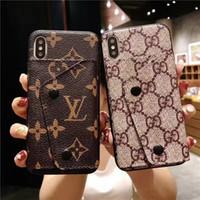 ingrosso casi di cellulare di alta qualità-Custodia stilista di lusso in pelle di alta qualità Custodia in pelle di alta qualità per iPhone X XS XR Xs Max 7 7plus 8 8plus 6 6plus
