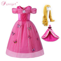 Wholesale princess cinderella costumes for sale - Pettigirl Princess Cinderella Costume For Girl Fairy Girl Party Wddding Dress Halloween Cosplay Kid Costumes G MBGD0010