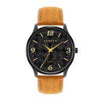 Wholesale big geneva watches resale online - Geneva Fashion Casual Simple trend Creative arabesquitic mm Four Big Number Man Women Unisex Quartz Analog Wrist Watches PU BELT Watches