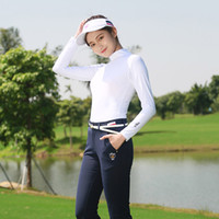 Wholesale golf sun sleeves resale online - Brand Summer sunscreen Slim Shirt Women full sleeve cool breathable Smooth Sun protection Clothing golf sportswear soft Jerseys