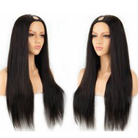 u parçalı peruk rengi 12 toptan satış-İnsan Saç U Parçası Peruk Ipeksi Düz 100% Perulu Remy Saç Peruk Doğal Renk Ile Orta Kısmı 130% 150% 180% Yoğunluk