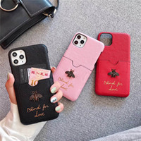 Wholesale Beautiful Luxury Women bee Designer Phone Cases Fashion Cover for IPhoneX Plus P promax pro Letter Brand Hot Sale with card