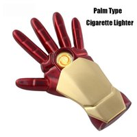 Wholesale toy cigarettes resale online - Creative USB Charging Windproof Lighter New Toy Energy Hand Cigarette Lighter Gift Box Packaging