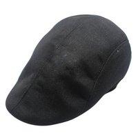 Wholesale black caps news resale online - Sfit New Arrivsl Beret Caps For Men Women Vintage News Boy Cap Linen Outdoor Hats Brand Sun Hat Unisex Duckbill Caps Casual