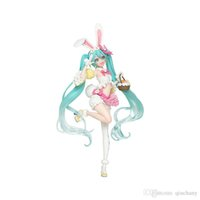 tavşan aksiyon figürü toptan satış-Sıcak Satış Anime Hatsune Miku Tavşan Kulak Ver PVC Action Figure Koleksiyon Model Oyuncaklar İçin Çocuk
