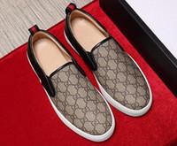 moda sapatos casuais flats venda por atacado-Top camada de couro impresso sapatos baixos, sapatos casuais dos homens, high-end impresso couro artesanal, moda andar sapatos de casamento G6.17