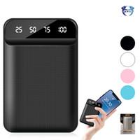 bateria externa mini usb venda por atacado-Mini banco de potência portátil com display digital led powerbank usb bateria externa de carregamento 4800/6000/8000/10000 mah para telefones celulares
