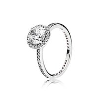 Wholesale 925 sterling silver ring women for sale - Group buy Authentic Sterling Silver CZ Diamond Wedding RING with LOGO and Original box for Pandora Engagement Jewelry Ring for Women Girls