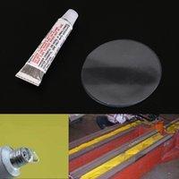 adhesivo para tubos al por mayor-1set (1xglue + 2xpatches / set) Natación con adhesivo de PVC Reparación de aire inflable Glue Tube Parche Bola de Yoga