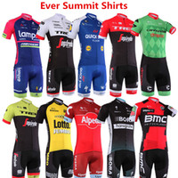 Wholesale cycling jersey tour france green online - Man cycling Jersey Motorcycle Racing Suit Tour de France team clothing spring summer men designer t shirts Tight Hight Quality