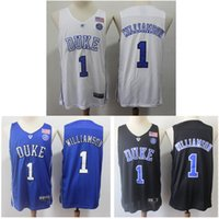 camisetas de baloncesto azul al por mayor-Zion Williamson 2019 Ncaa Blue Devils College Jersey Duke College El baloncesto viste el logotipo de bordado de Williamson Tejidos transpirables