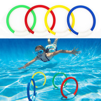Wholesale packing toy resale online - 4 Pack Child Kid Diving Ring Water Toys Underwater Swimming Pool Accessories Diving Buoys Four Loaded Throwing Toys
