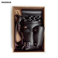 Wholesale scissors belt for sale - Group buy Pu Leather Rivet Hair Scissor Bag Clips Bag Hairdressing Barber Scissor Holster Pouch Holder Case With Waist Shoulder Belt Brown T190718