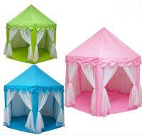 kapalı ev ışıkları toptan satış-Büyük Prenses Kale Tül Çocuk Evi Oyunu Satış Çadır Yurt Oynamak Yaratıcı Yaratıcı Açık Kapalı Işıkları Topları Oyuncaklar Geliştirin