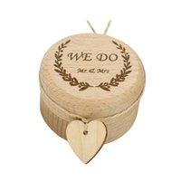 jóias para o dia do casamento venda por atacado-Caixa De Anel De Casamento De Jóias De Madeira Vazio Caixas De Caixa De Anel De Presente Do Dia Dos Namorados Portador De Casamento