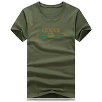 grandes hombres camisas de diseño al por mayor-Camisetas de lujo para hombres o mujeres Tamaño grande Logotipo de la marca Camisa camiseta casual de verano Diseñador de ropa Marea Carta de impresión de manga corta Tops