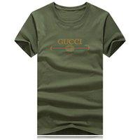 shirt marken logo groihandel-Luxus t shirts für männer frauen o neck big size marke logo shirt sommer casual t designer clothing flut brief drucken kurzarm tops