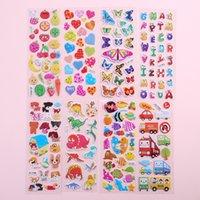etiquetas de bolha 3d venda por atacado-3d puffy bolha adesivos animais dos desenhos animados da princesa da letra do gato carro waterpoof diy baby toys para crianças crianças menino menina