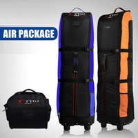 Wholesale trolley covers resale online - 2019 Golf Aviation Air Bag With Wheels Foldable Lightweight Trolley Cover Golf Bags Thicken Travelling Air Package D0645
